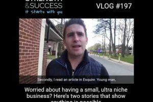 VLOG 197 – Worried About Having A Small Niche? Watch This!