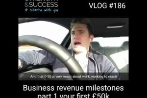 VLOG 186  – Business Revenue Milestones | Part 1 – Your First 50K
