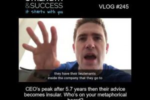 VLOG 245 | CEO's peak after 5.7 years