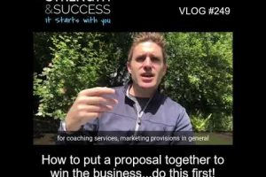 VLOG 249 | How to put a proposal together to win the business…do this first!