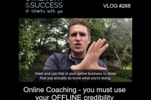 VLOG 268 | Online Coaching- you must use your OFFline credibility