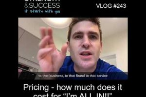 "VLOG 243 | Pricing- how much does it cost for ""I'm ALL IN!!"""
